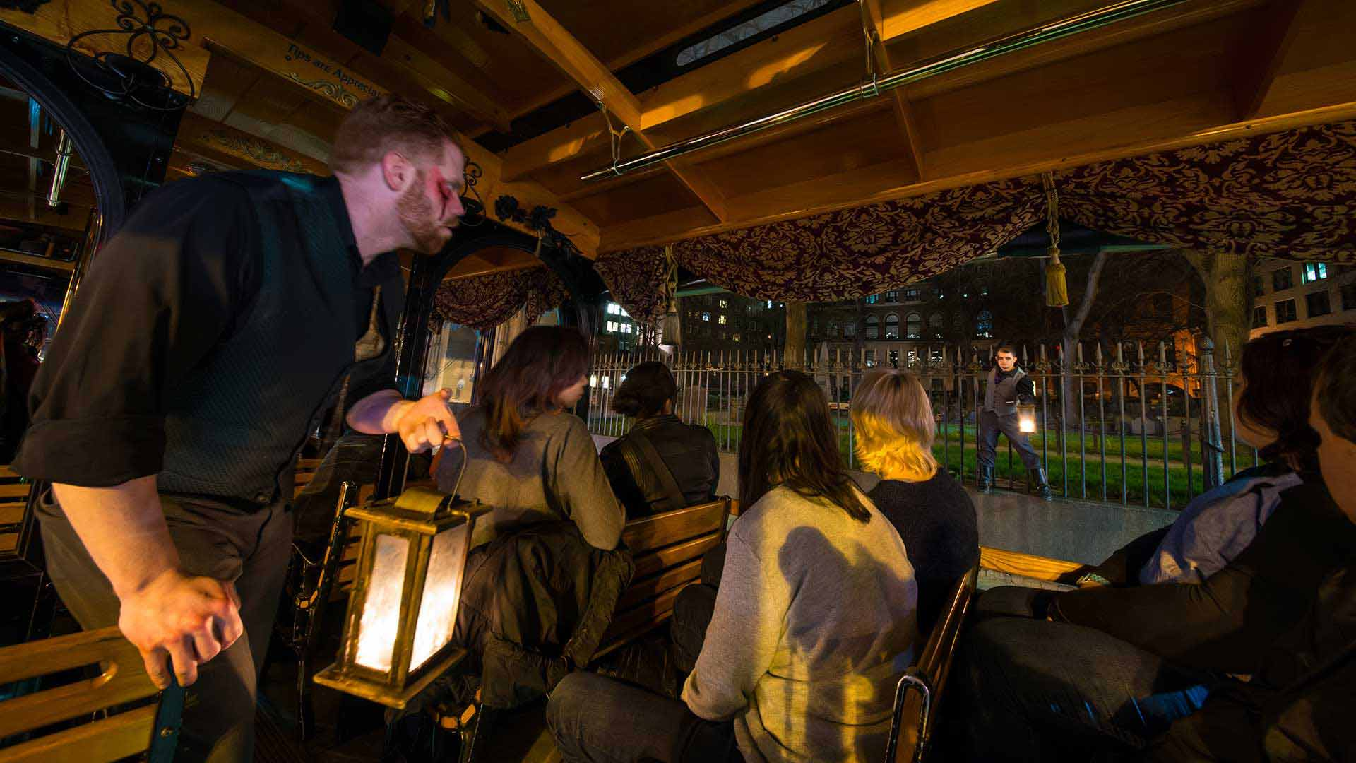 Ghost Tour Interior Of Trolley in Boston, Massachusetts