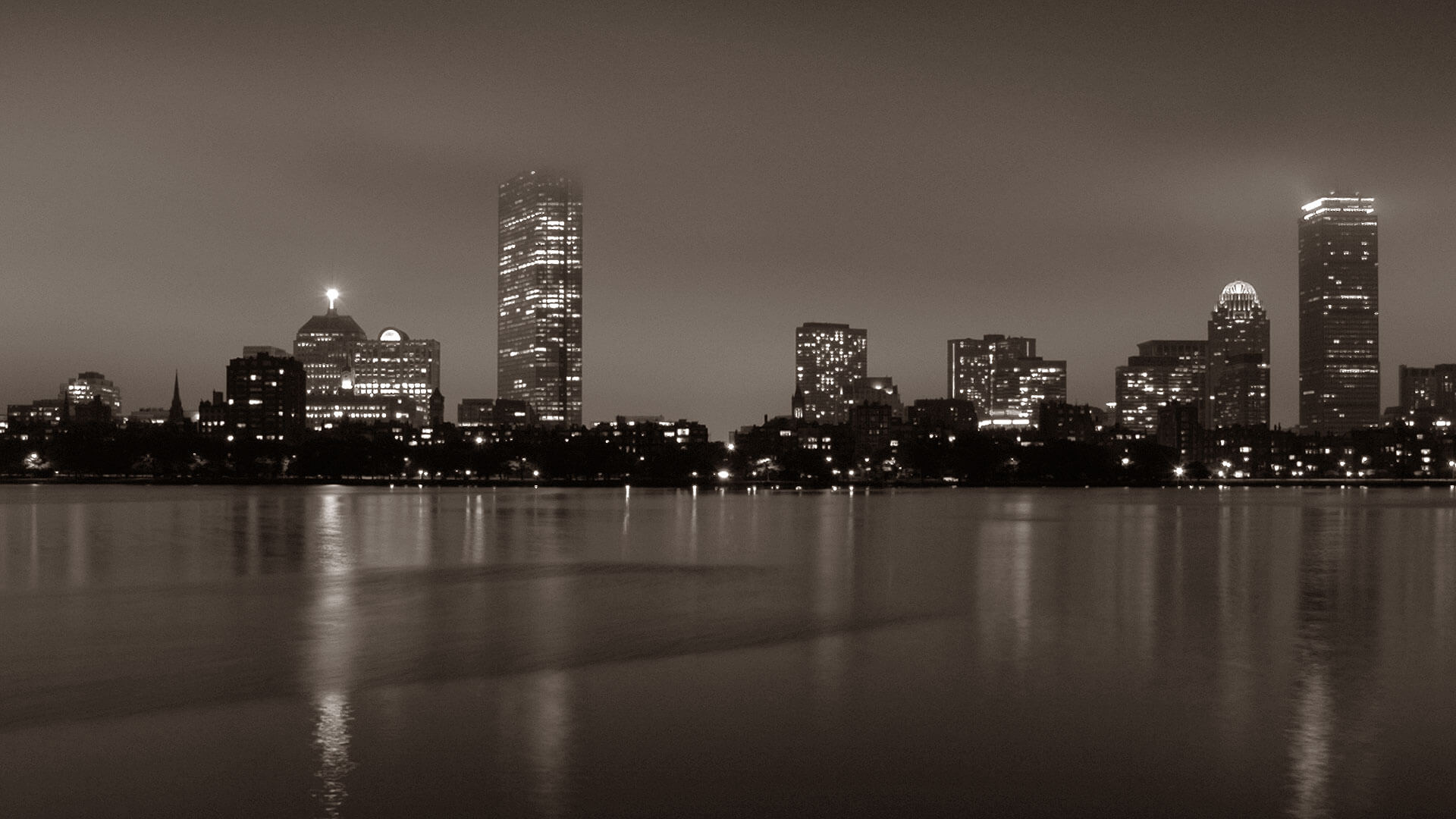 boston night cityscape