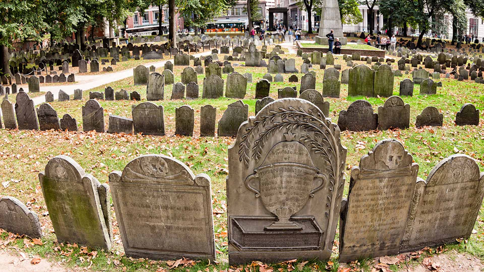 Haunted Granary Burying Ground in Boston