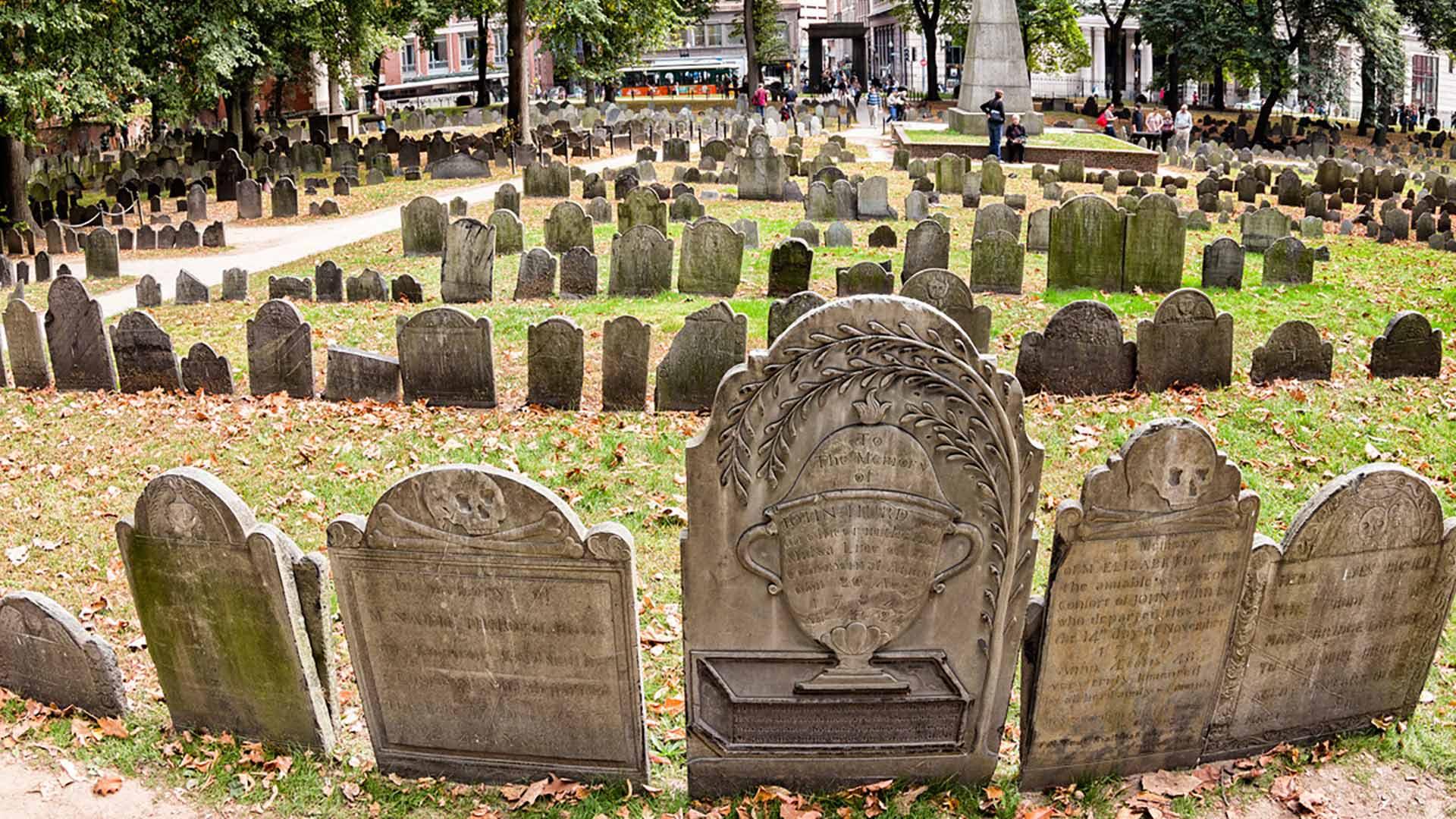 Haunted Granary Burying Ground in Boston