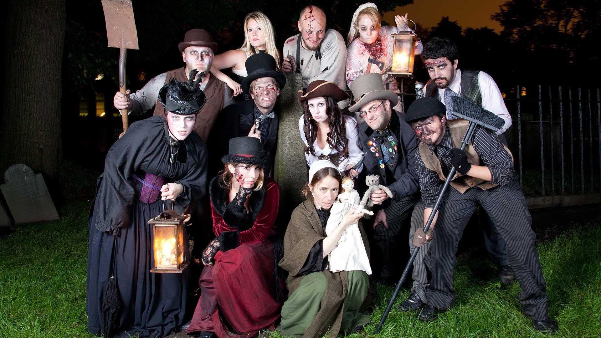 boston haunted tour guides in costume