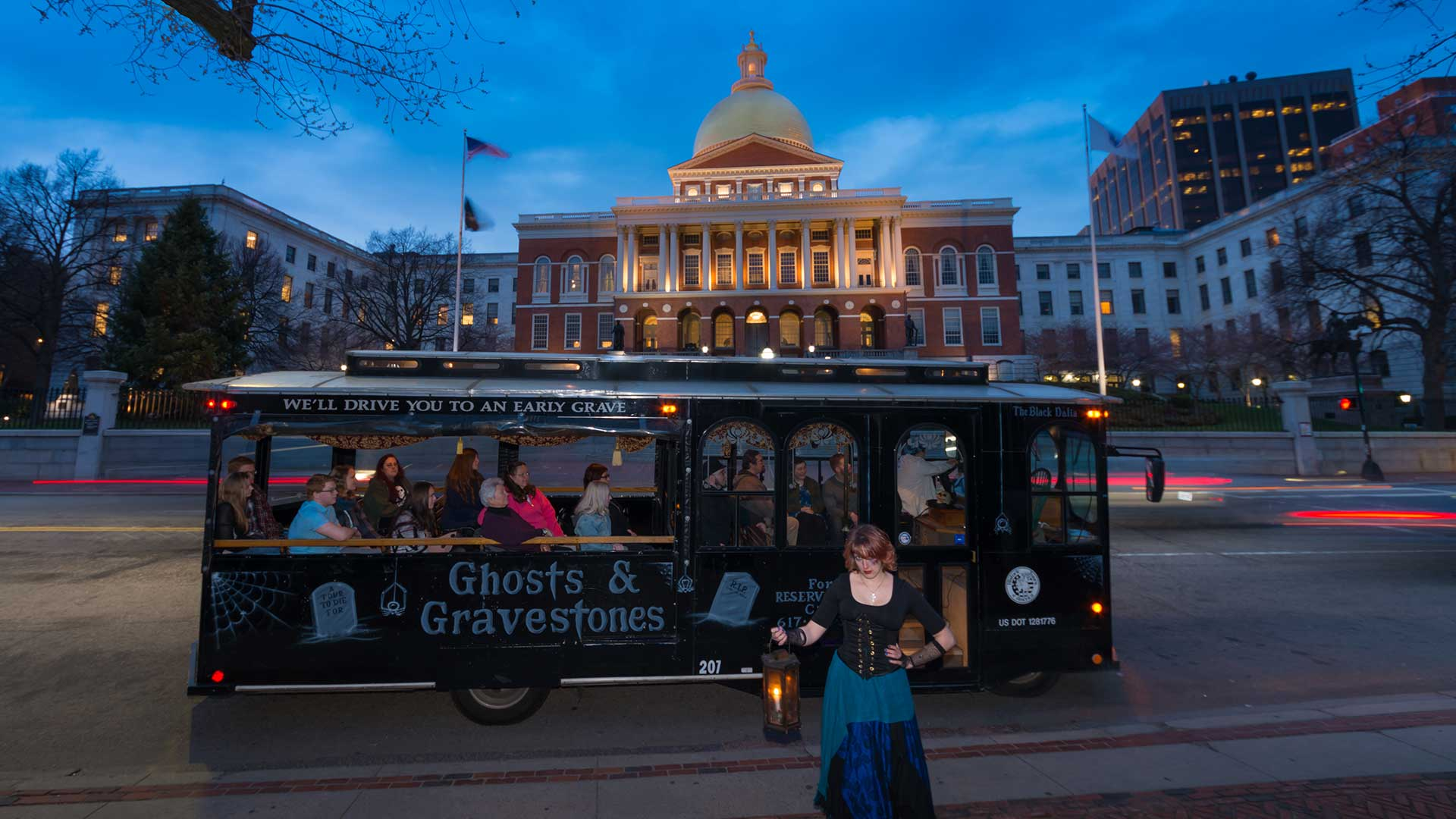 Boston ghost tours in Massachusetts State Capital Building