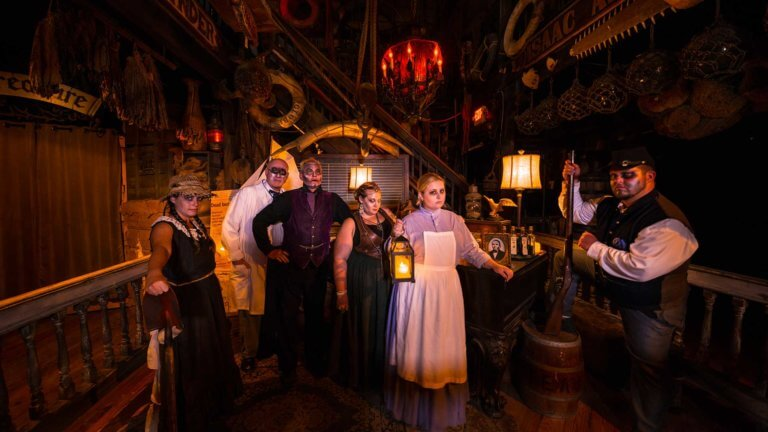 key west ghost tour guides in costume