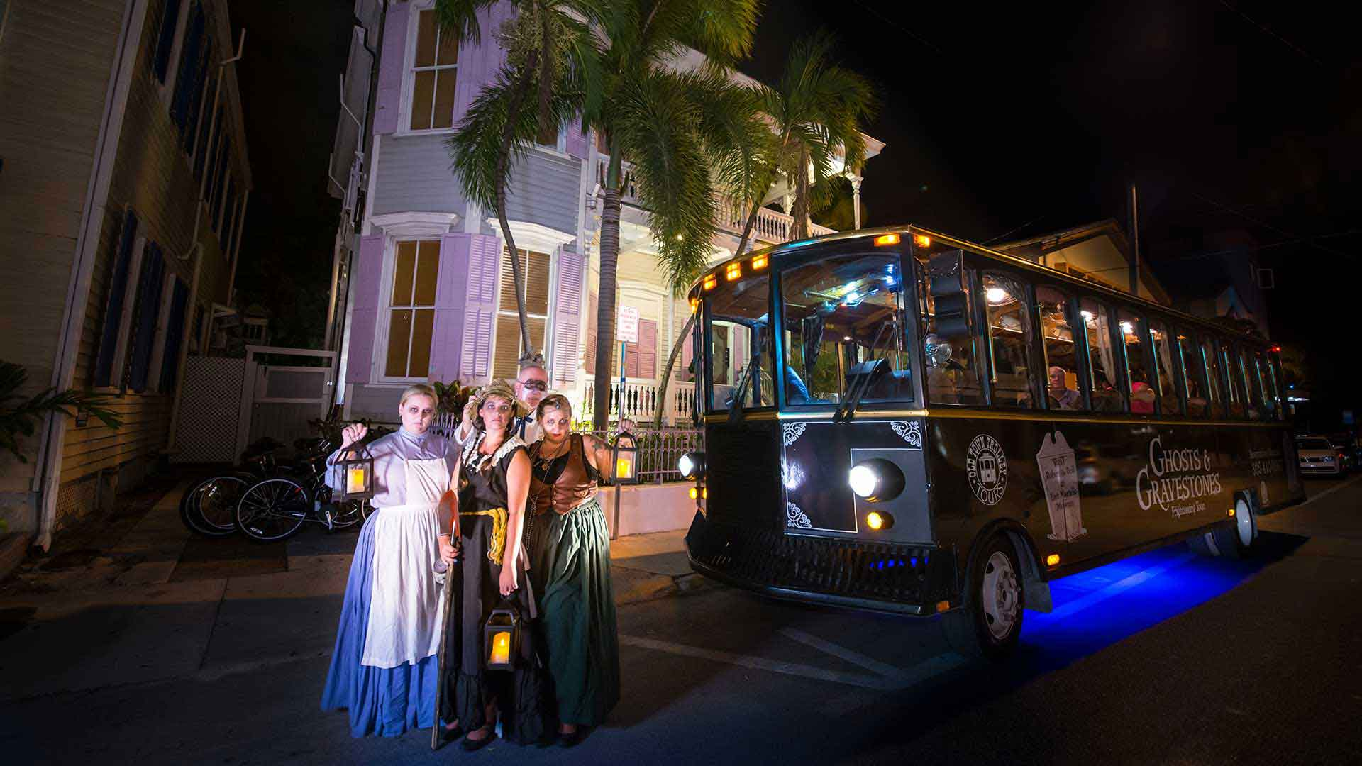 key west haunted tour guides in costume