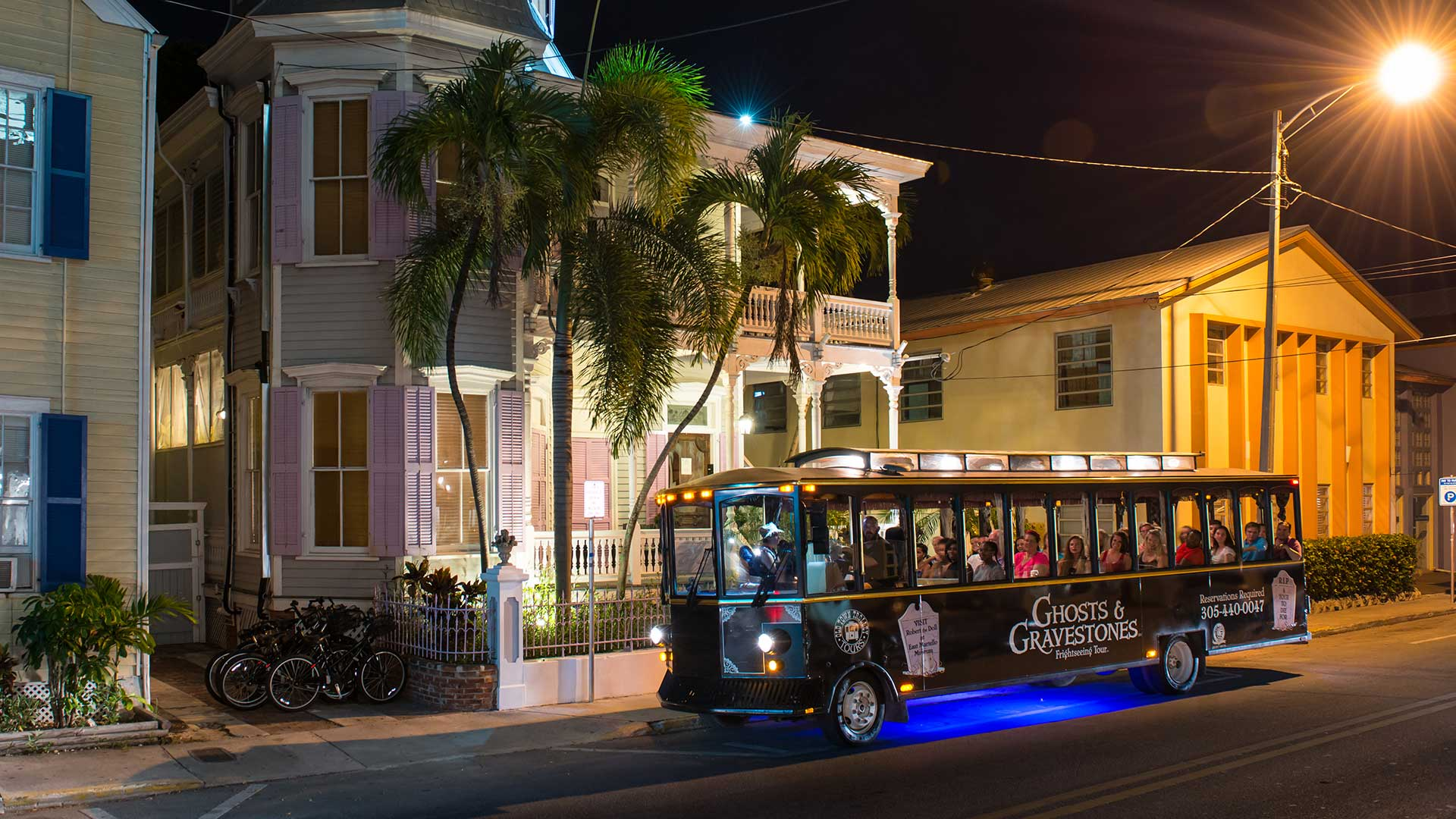 key west ghost tour trolley driving