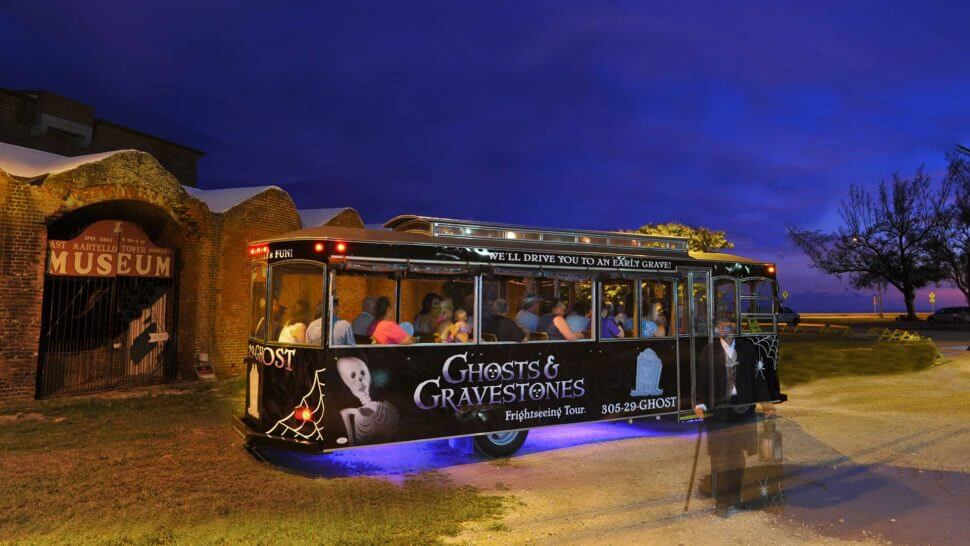 Haunted Old Town Trolley for Ghosts & Gravestones