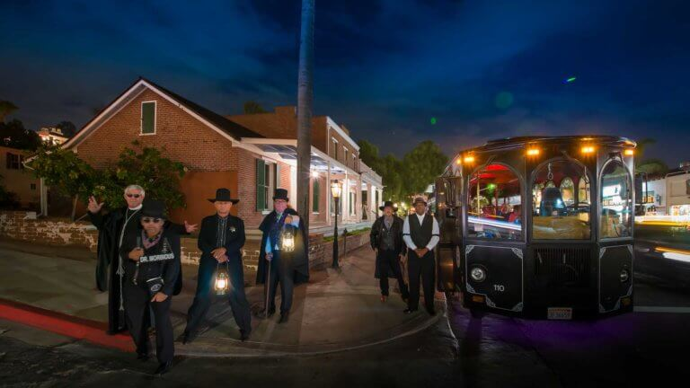 san diego ghost tour trolley and tour guides