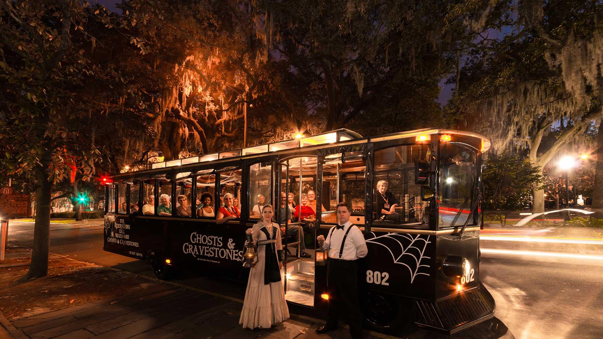 savannah ghost tour black trolley