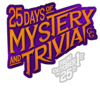 graphic with that reads '25 days of mystery and trivia, from October 1 to 25'