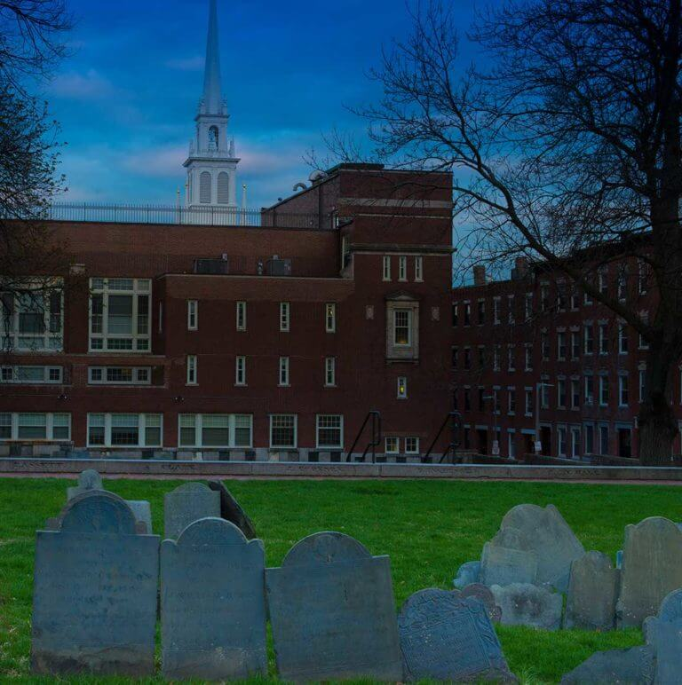 Haunted Tour at Copps Hill Burying Ground in Boston