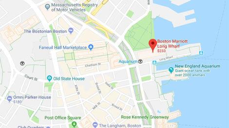boston map marriott long wharf