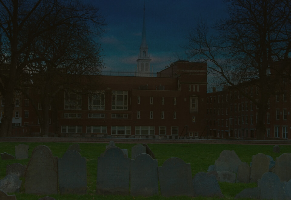 copps hill burying ground dark graves