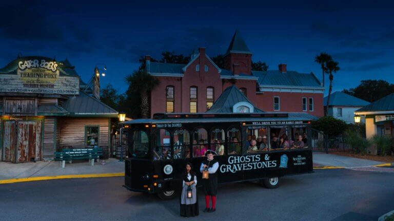 st augustine ghost trolley at old jail