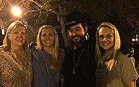 savannah ghost tour guests and tour guide