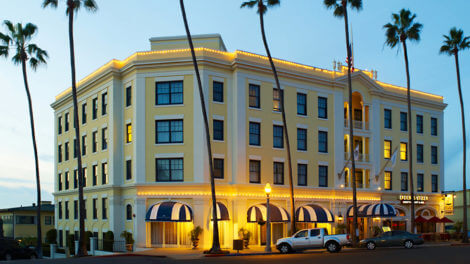 Exterior of The Grande Colonial Hotel in La Jolla, California
