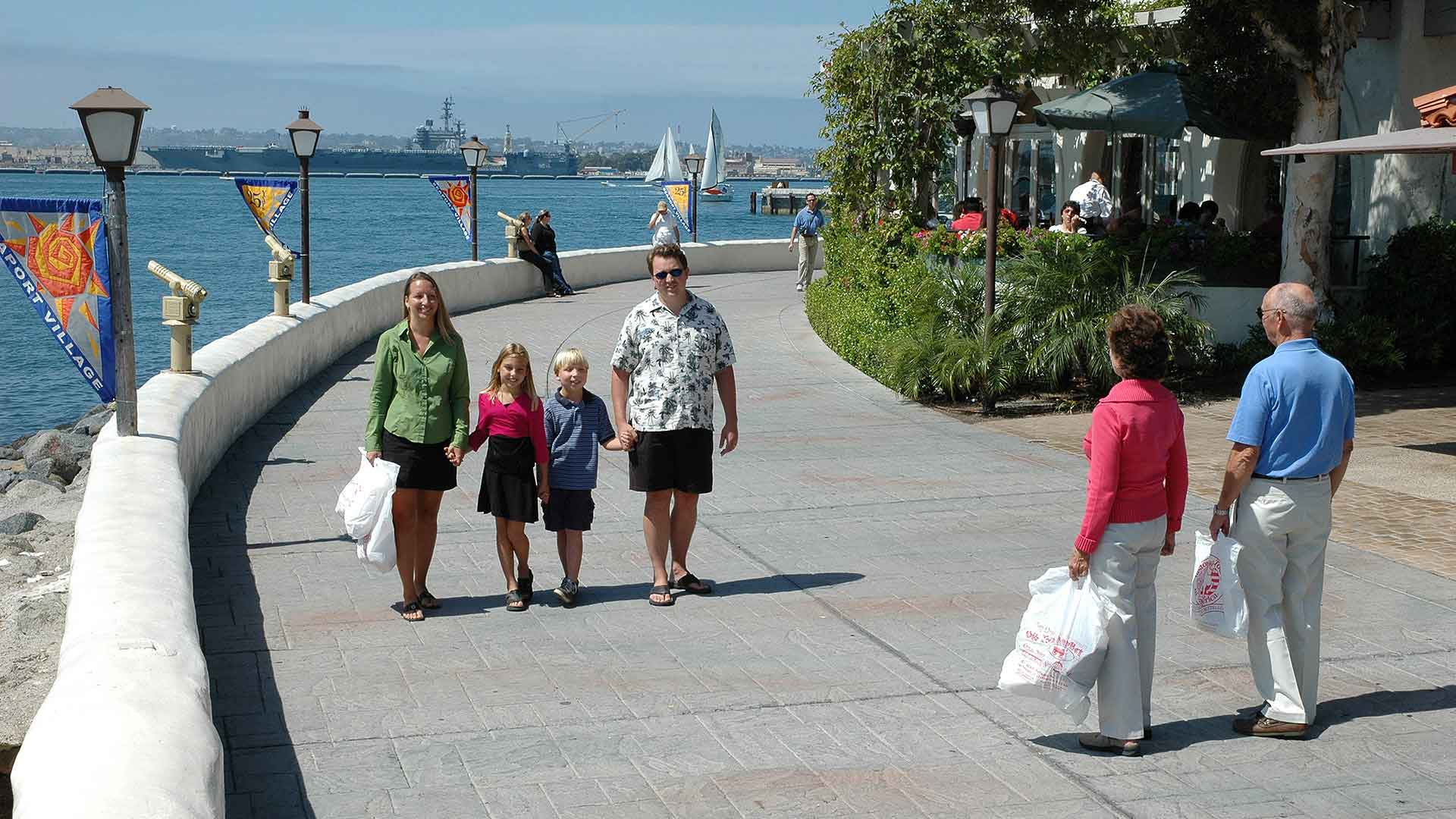 san diego seaport village tourists