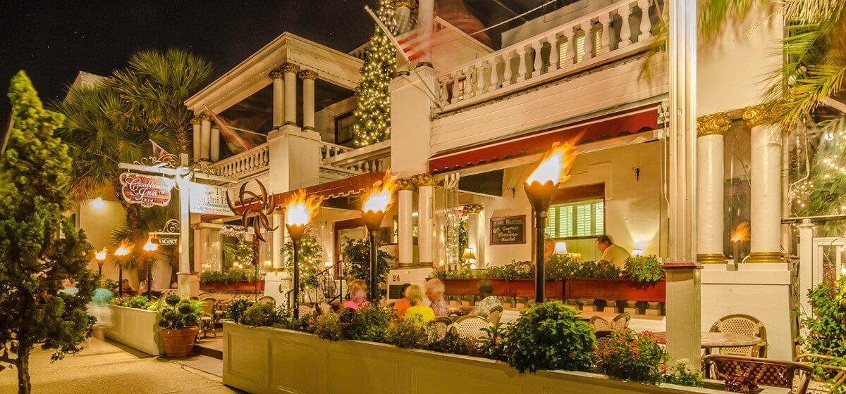 st augustine casablanca inn at night