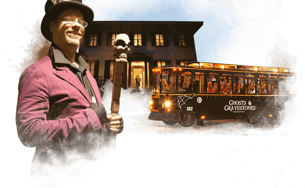 Savannah Ghost Tour Trolley and Cast Member