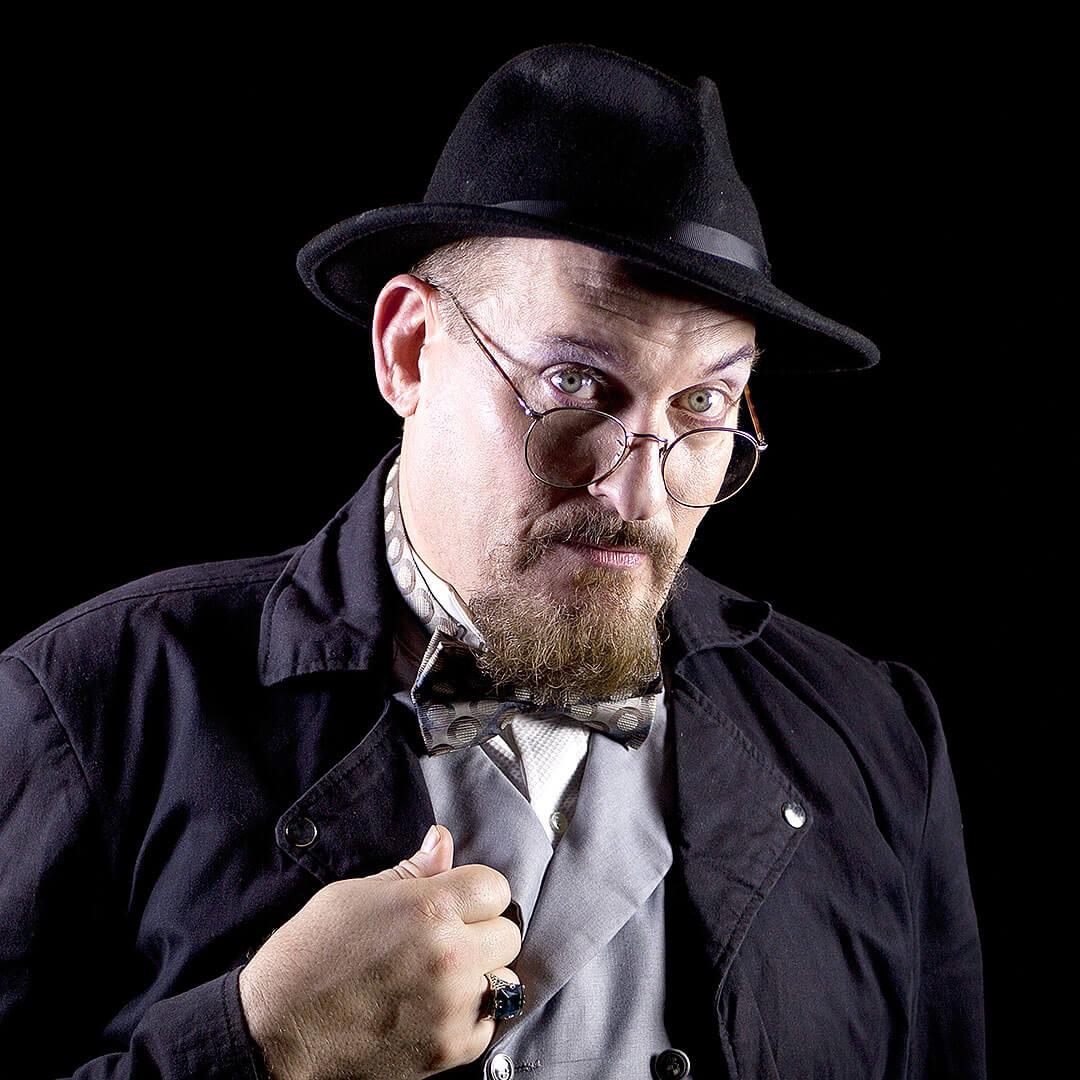 picture of savannah ghost host professor crumbley