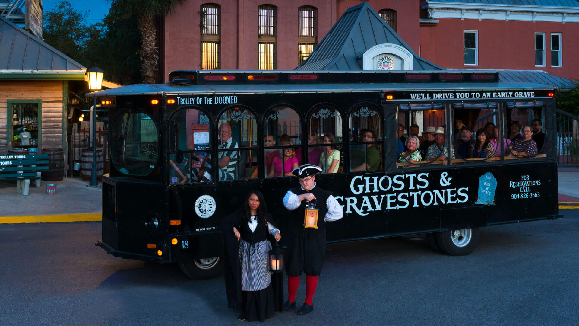 St Augustine ghost tour trolley