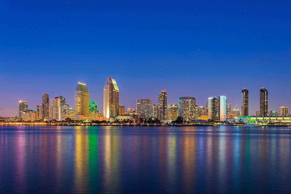 San Diego skyline at night