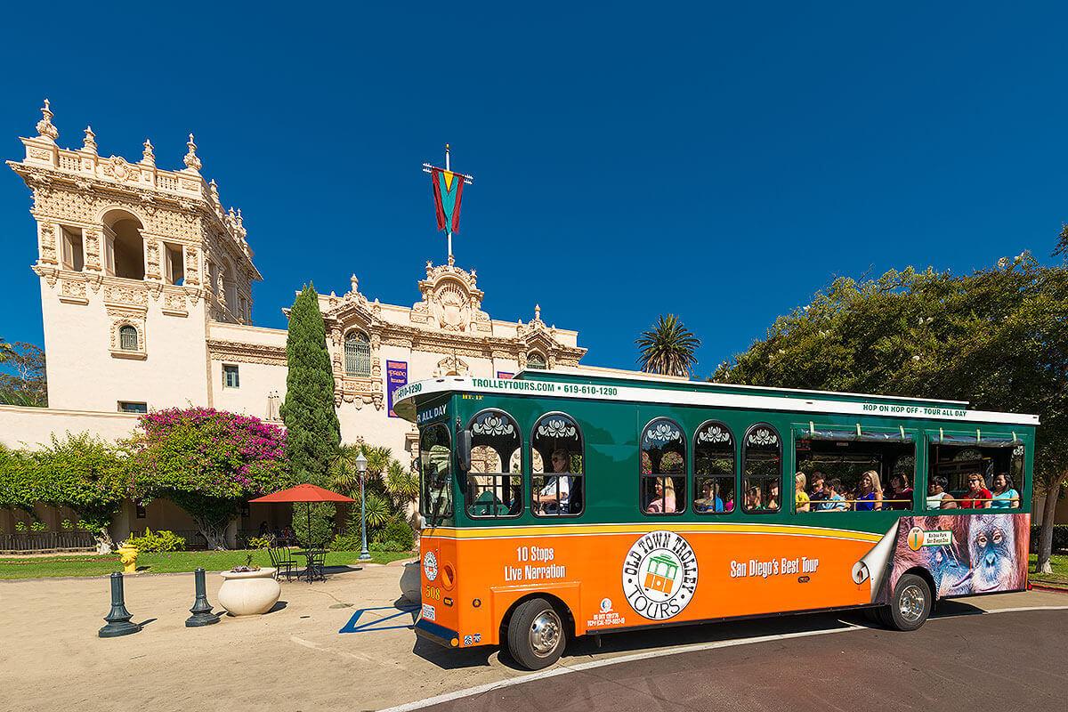 San Diego trolley at Balboa Park