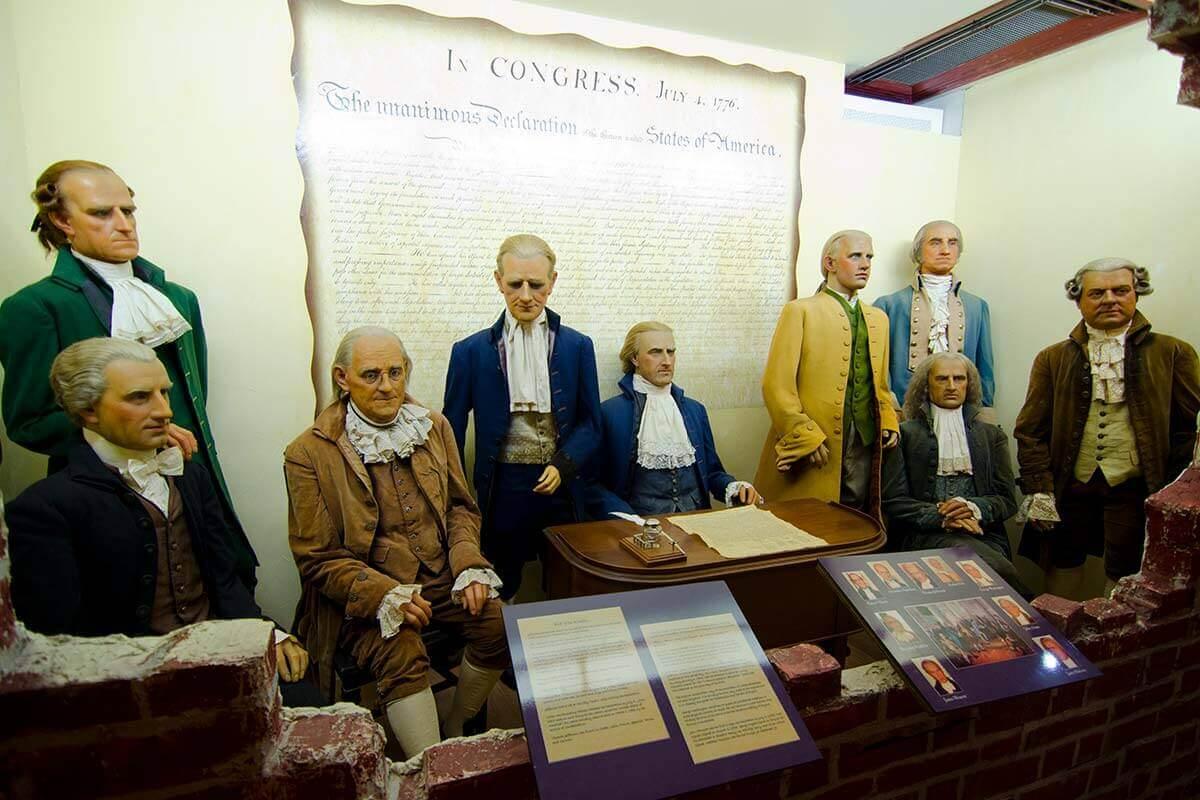 St. Augustine Potter's Wax Museum Presidents exhibit